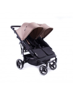 Silla gemelar Baby Monsters Easy Twin 3.0S Reversible Taupe