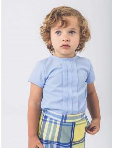 Conjunto de bebé para niño Cuadros Amarillos de La Ormiga