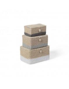 Pack de 3 cestas tejidas de Child Home