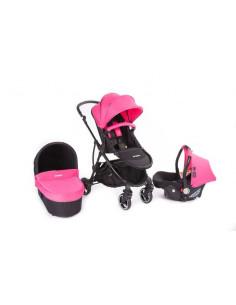 Coche trio Baby Monsters Globe rosa fucsia
