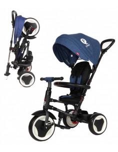 Triciclo Q Play Rito plegable azul