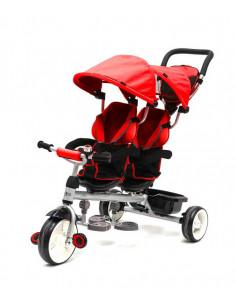 Triciclo Q Play gemelar rojo