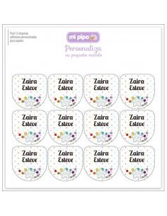 Pack 12 etiquetas personalizadas para zapatos