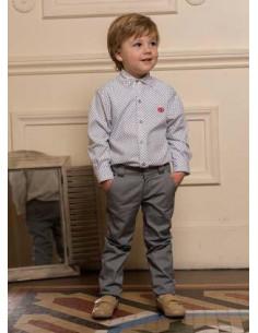 Camisa para niño Estrella de Dolce Petit Invierno