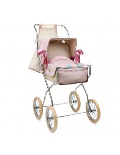 Silla para muñecos reborn vintage rosa empolvado de Bebelux