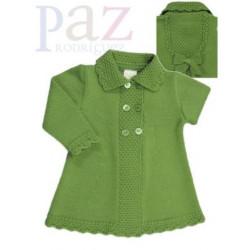 Abrigo y capota rosa bebé punto Nenufar invierno 2014 de Paz Rodriguez