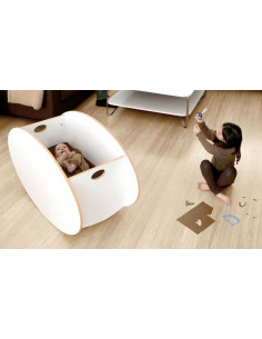 Minicuna de madera So-Ro blanca de Babyhome
