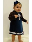 Vestido terciopelo y chaqueta de Artesanía Granlei