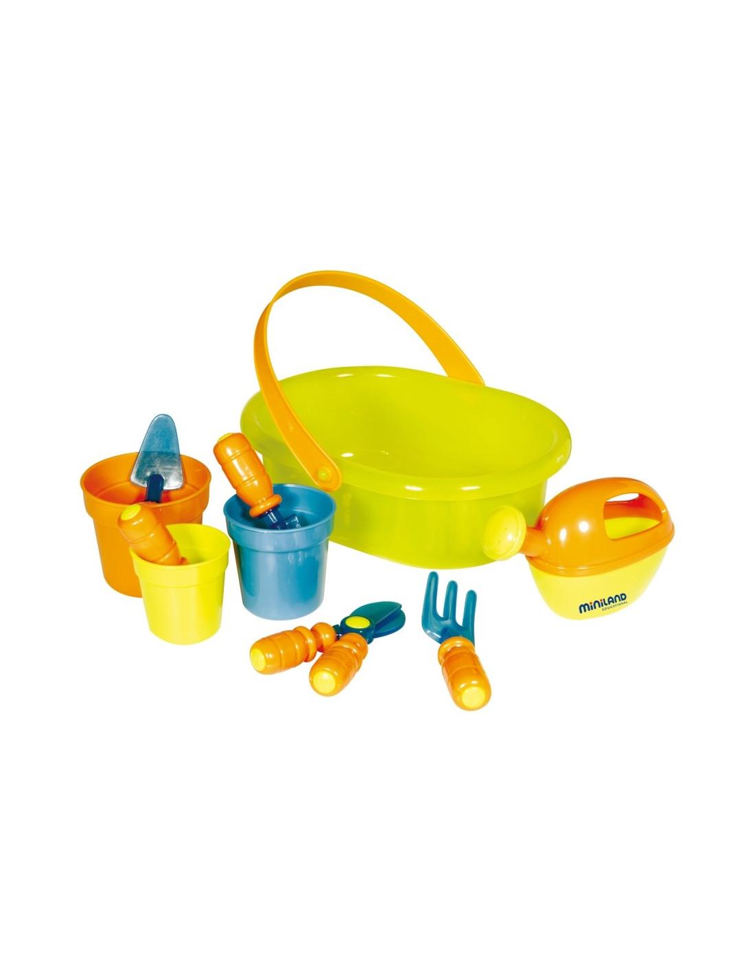 Kit de jardineria de juguete de miniland for Herramientas jardineria ninos