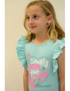 Camiseta de niña verano Fluor de Girandola