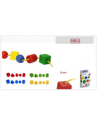 Juguete Formas ensartables de 40 piezas de Miniland