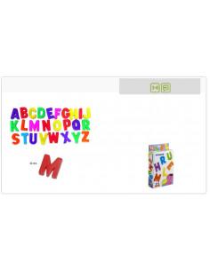 Juguete letras mayúsculas magnéticas 62 piezas de Miniland