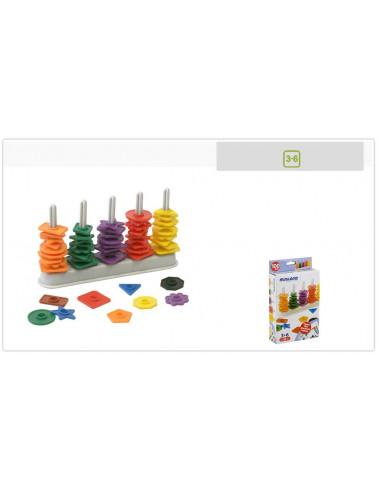 Juguete educativo ábaco de formas y colores de Miniland