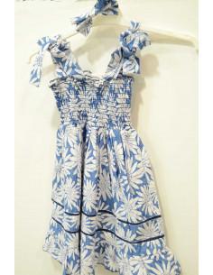 Vestido verano tirantes con flores de Ovololo