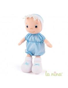 Muñeco bebé niño celeste de trapo de La Nina