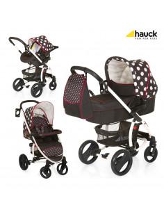 Coche de bebé tres piezas Malibu XL One Dots de Hauck