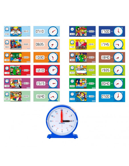 Juguete educativo las horas del reloj de Miniland Educacional