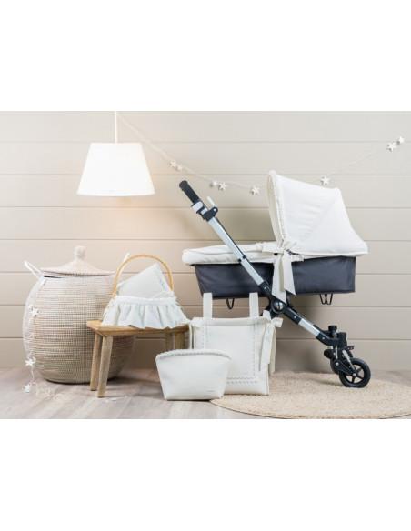 Colcha para coche bebé y moisés Merengue de Pili Carrera