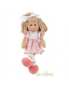 Muñeca de trapo Marta con vestido Lily de La Nina