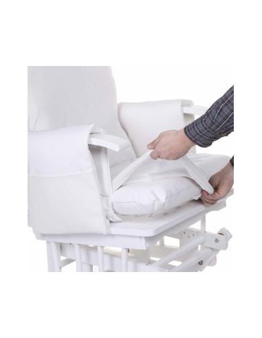 Funda de sillón de lactancia bebé blanca de Child Home