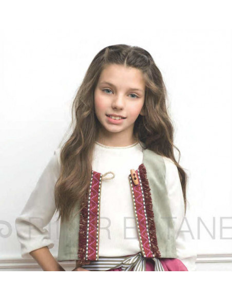 Chaleco niña Pilar Batanero Invierno 2016