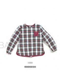 Camisa niña cuadros Pilar Batanero Invierno 2016