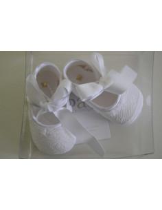 Zapato sin suela de tela forrado de encaje de Paz Rodriguez