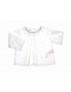 Blusa de plumety con puntilla Brisa Paz Rodriguez