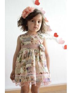 Vestido niña estampado rosa Loan Bor Primavera