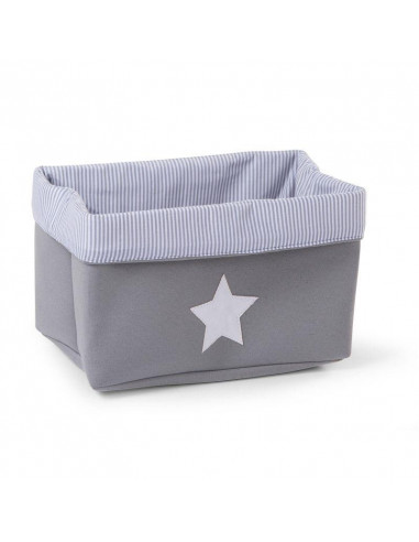 Cesta rectangular de almacenaje canvas gris de Child Home