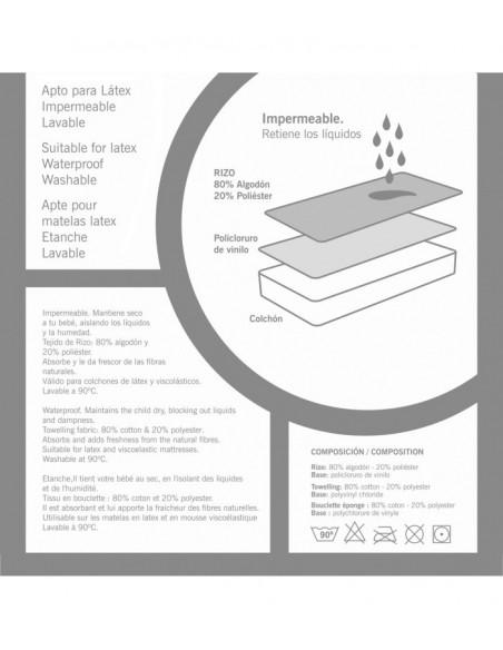 Protector de colchón 60 * 120 cm rizo para la cuna de tú bebé de Cambrass
