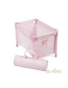 Cama de viaje Paula rosa de La Nina