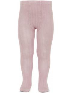 Leotardo canalé color rosa palo de Cóndor