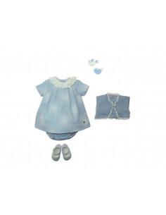 Vestido para niña franela Nieve de Paz Rodríguez Invierno