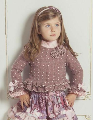 d7223e524 Jersey de niña Berenjena de Loan Bor Invierno 2017