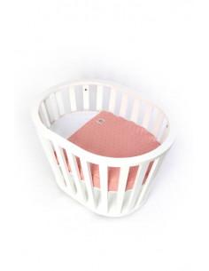 Saco ajustable rosa minicuna MiniGuum Barcelona