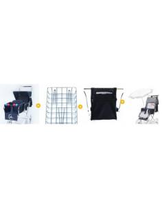 Pack 3: Silla gemelar + parrilla + bolso + 2 colchonetas