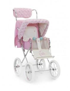Kit de invierno rosa para silla muñecas de Bebelux