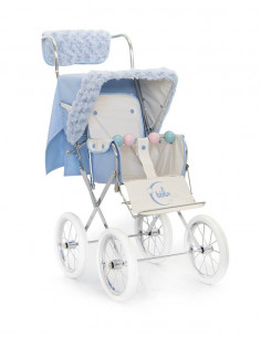 Kit de invierno celeste para silla muñecas de Bebelux