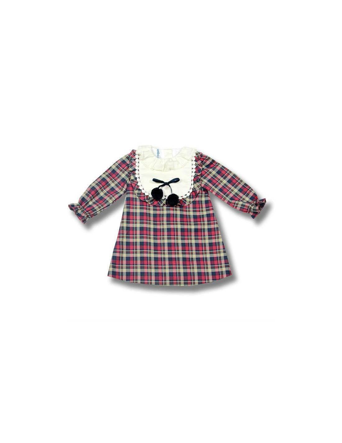 ec21667b4 Vestido para niña Hojas de Foque Invierno 2017