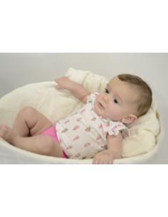 Pelele para bebé niña Fresa de Paz Rodríguez