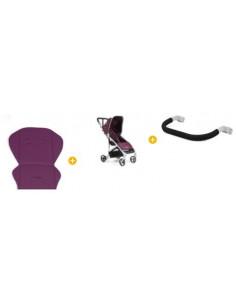 Oferta 1 silla Vida purple de Babyhome + Bumperbar