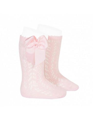 1e2b9c5e531 Calcetines infantiles altos calados rosa de Condor