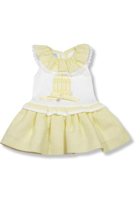 Vestido para niña con cuerpo de punto Plátano de Foque