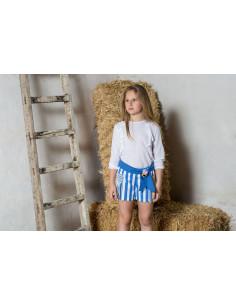 Camisa de rayas para bebé niño cuello mao Pilar Batanero