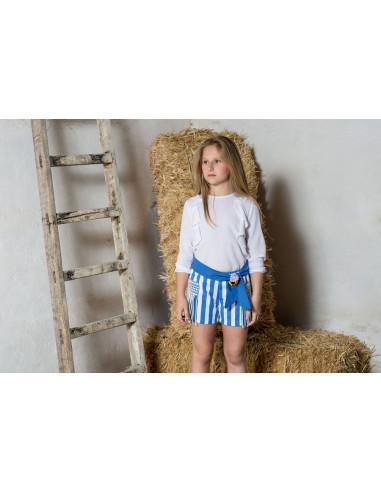 44f5e847b Blusa manga larga para niña con volante de Pilar Batanero