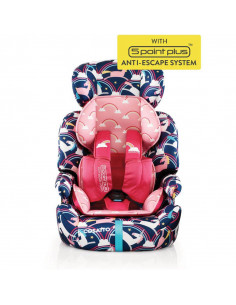 Silla de auto 1-2-3 Zoomi Magic Unicorns de Cosatto