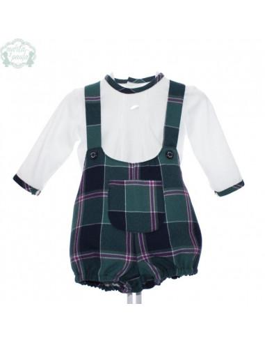 Conjunto Picolino de bebe para niño Cervantes de Marta y Paula Invierno 9838c8e95d3
