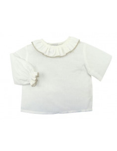 Blusa para bebé diente de rata Campanilla de Paz Rodriguez  Invierno