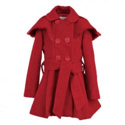 Abrigo mouflon para niña capelina Rojo de La Ormiga Invierno